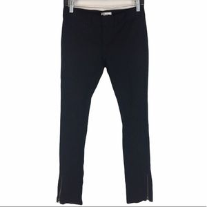 Vince Skinny Black Pant with Ankle Zip Size 2